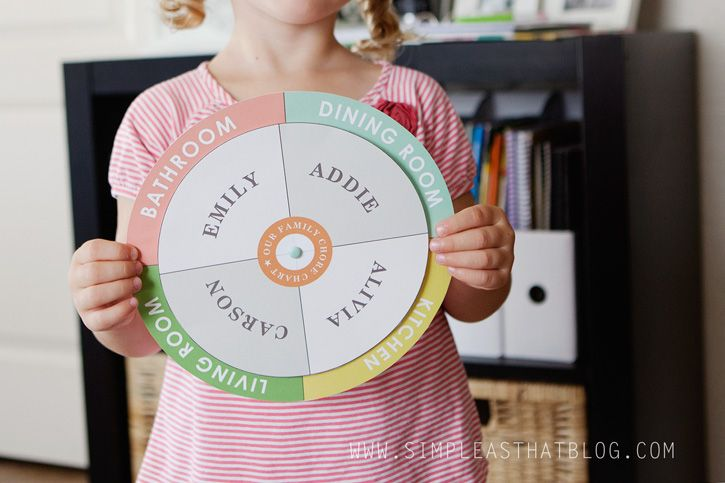 Free printable checklist chore chart and circle spinner