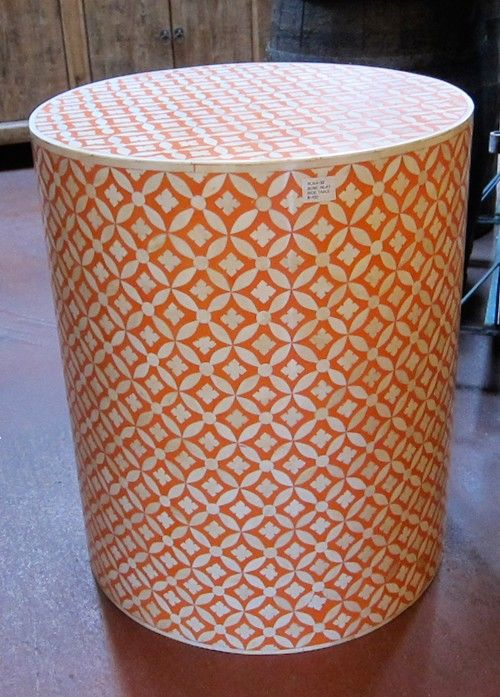Groovy Orange Bone Inlay Side Table | Accent Tables | Pinterest | Antique  Furniture Stores, Stools And Antique Furniture