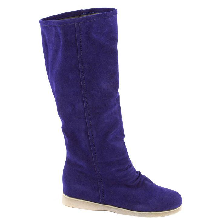 Cizme de dama albastre M906 - Reducere 40% - Zibra