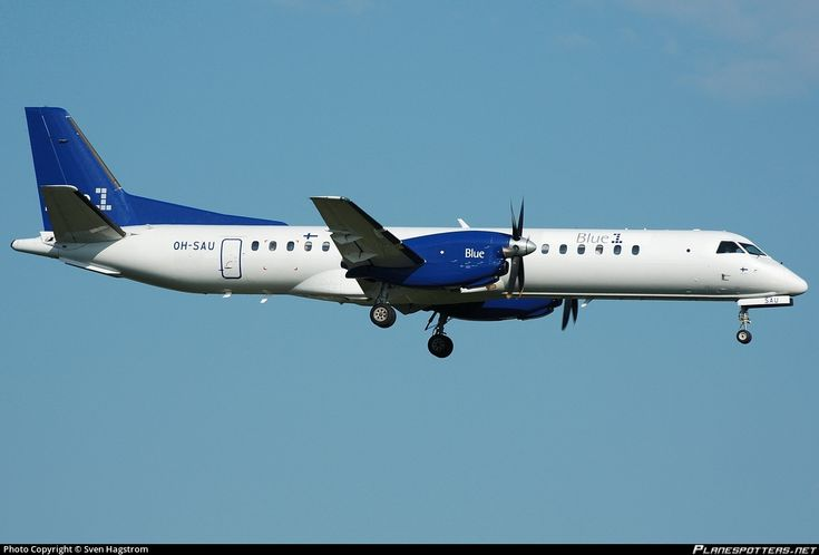 Blue1 Saab 2000 OH-SAU aircraft, on short finals to Sweden Stockholm Arlanda International Airport. 07/08/2006.