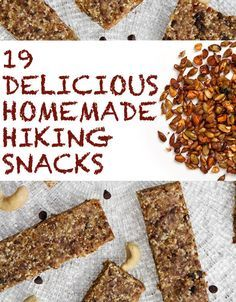 19 Delicious Homemade Hiking Snacks - why just for hiking? There can't be enough…