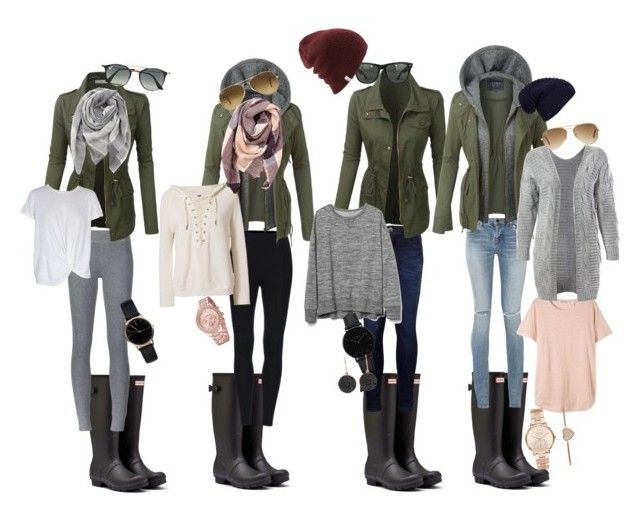 """""""🙂"""" by melinda-elizabeth on Polyvore featuring Hunter, Yves Saint Laurent, Levi's, ATM by Anthony Thomas Melillo, LE3NO, NSF, Sans Souci, Gap, MINKPINK and Ray-Ban"""