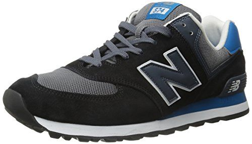 New Balance Men's ML574 Core Plus Fashion Sneakers, Black/Grey, 15 2E US - http://buyonlinemakeup.com/new-balance/15-2e-us-new-balance-mens-ml574-core-plus-running-13