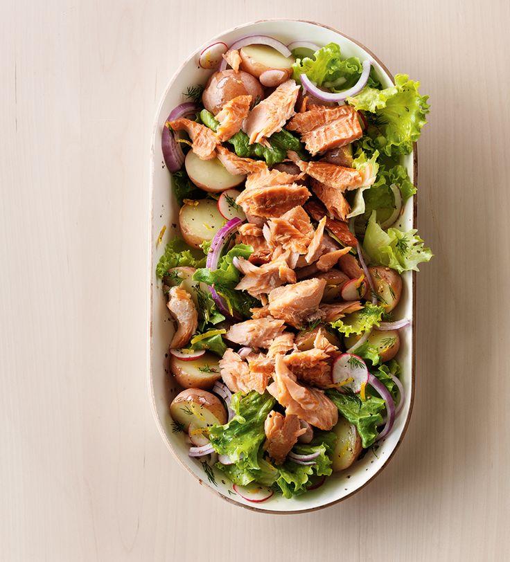 Warm Potato Salad with Smoked Trout