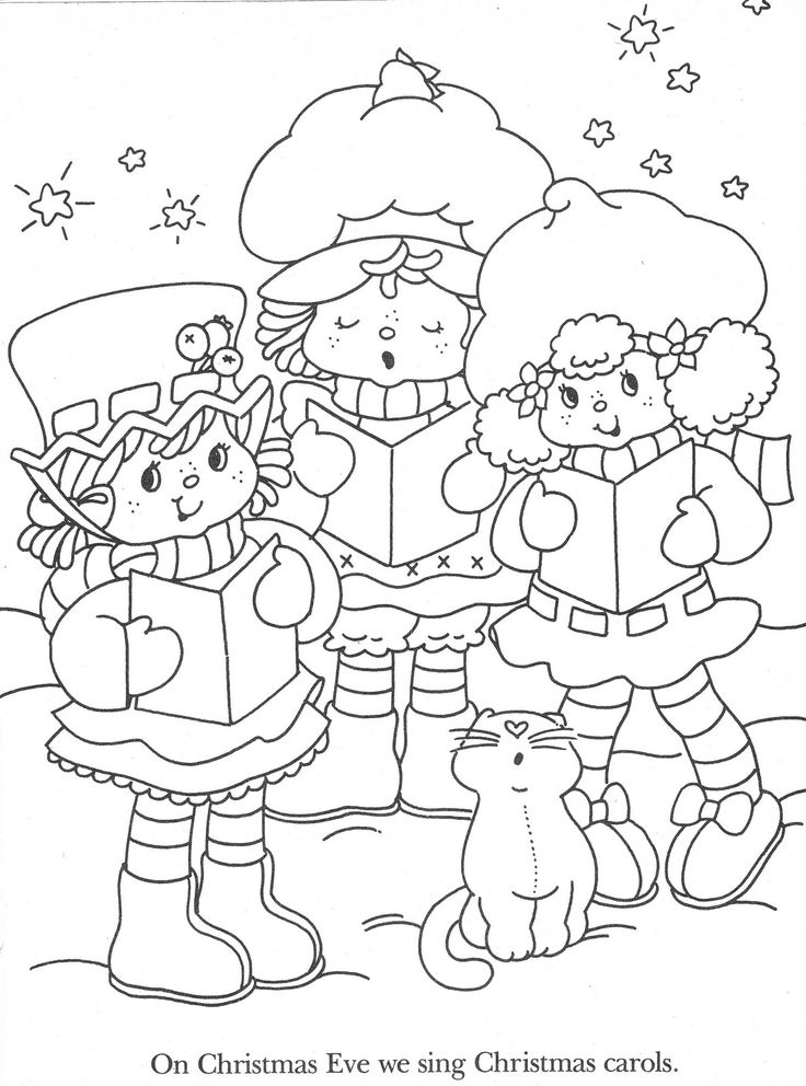 christmas strawberry shortcake coloring pages-#5