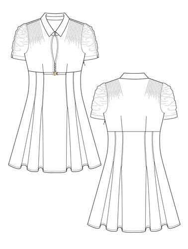 I love this dress sketch from http://www.designersnexus.com/free-fashion-flats/flat-fashion-sketch-dress-032/