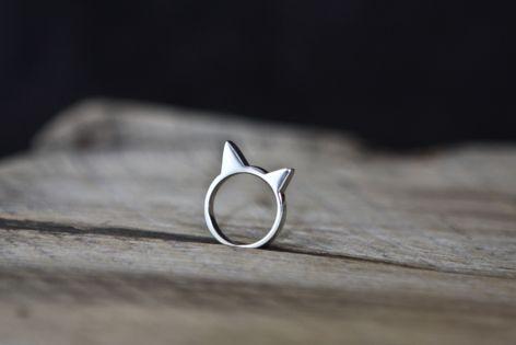 Cat head ring from #Mohawki jewelry