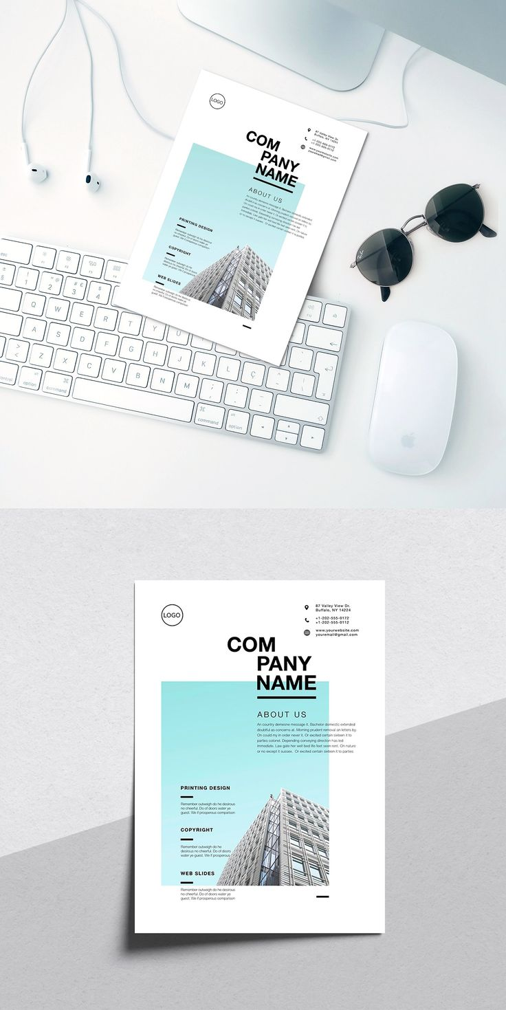 Corporate flyer by Marie T on Creative Market