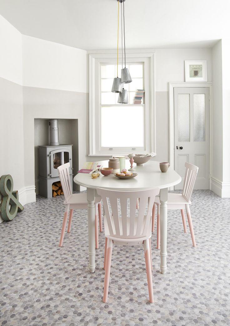 Bounce cortile white tile effect vinyl