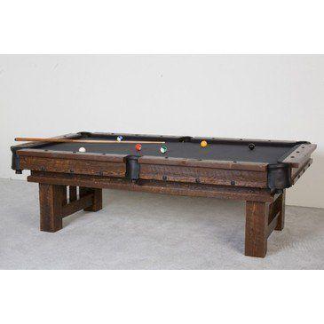 Viking Barnwood Billiard Table From Beyond Stores   Billiard Table In The  Barnwood Collection By Viking The Barnwood Pool Table
