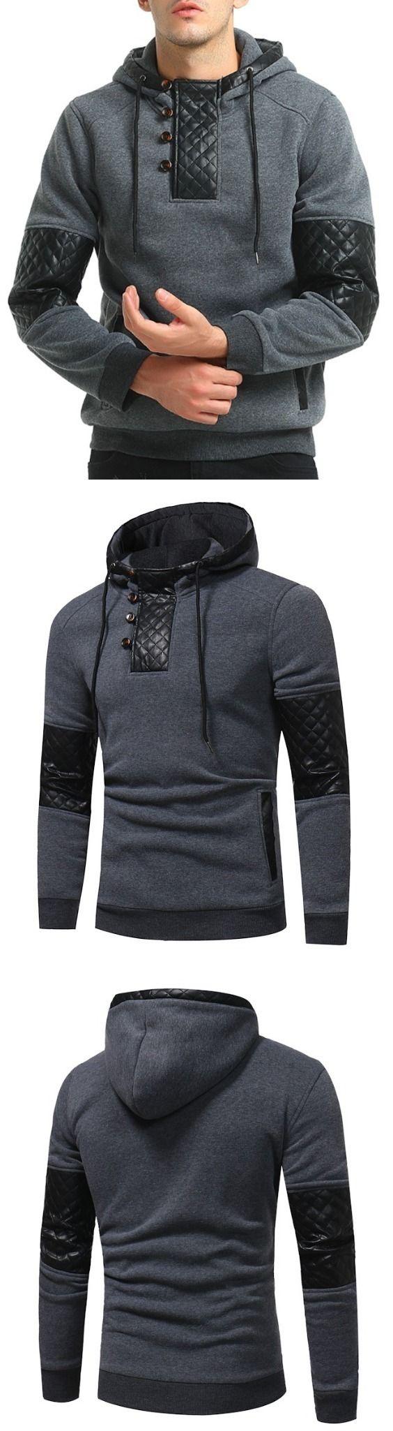 Men Fashion Quilting Blazer Casual Hoodie
