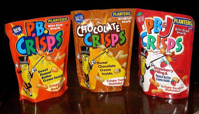 Planters P.B. Crisps, Chocolate Crisps, PB Crisps - 1992-1995 by JasonLiebig, via Flickr