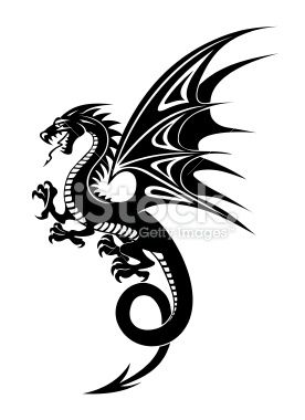 Black dragon Royalty Free Stock Vector Art Illustration