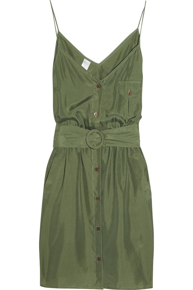 Lyre Lyre washed-silk dress