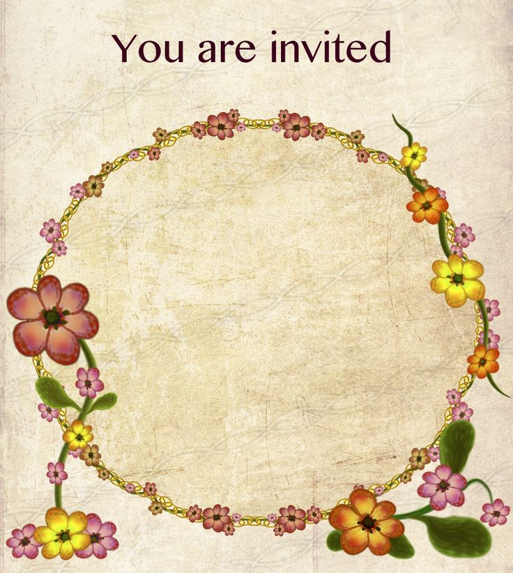 17 Best images about Invitation card floral design printable on – Designs for Invitation Card