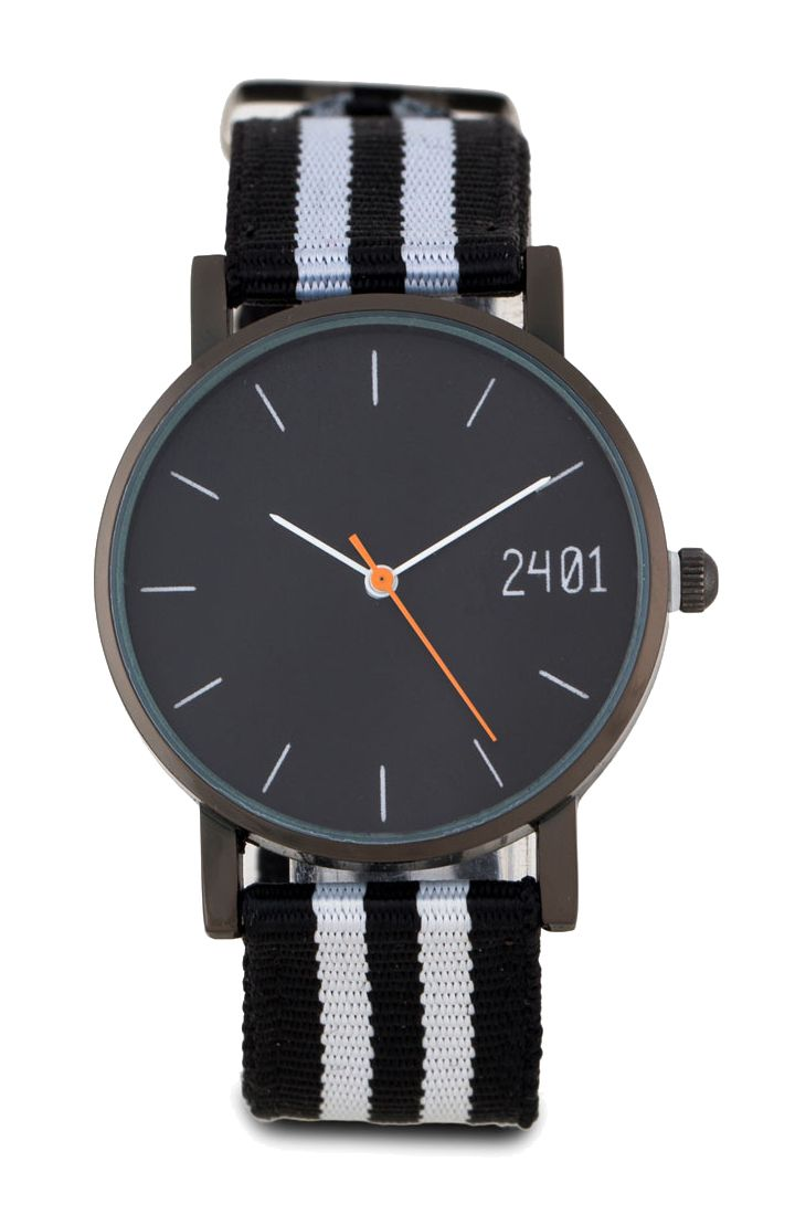 Men's Canvas Strap Watch Men's Canvas Strap Watch by 24:01. Black and white…