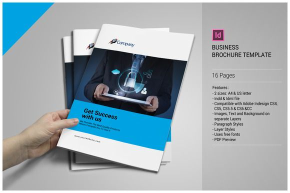 Business Brochure Template by tujuhbenua on @creativemarket