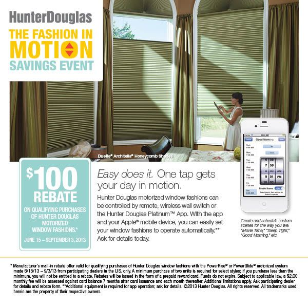 17 best images about fine designs interiors on pinterest for Hunter douglas motorized blinds cost