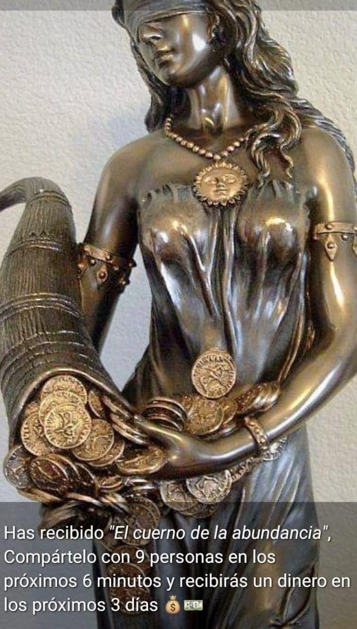 Pin De Lilian Sonia Miksik En Mensajes De Buena Suerte Y Abundancia Diosa De La Fortuna Arte En Bronce Esculturas De Arte