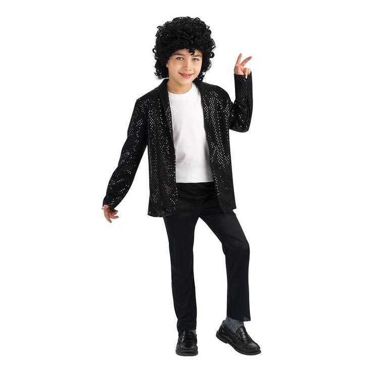 Michael Jackson Billie Jean Costume Jacket - Kids, Boy's, Size: 4-6, Multicolor