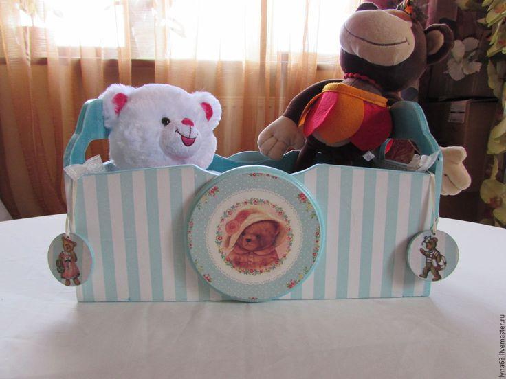 Купить Ящик для детских игрушек,книжек,мелочевки - морская волна, ящик для игрушек, ящик для хранения