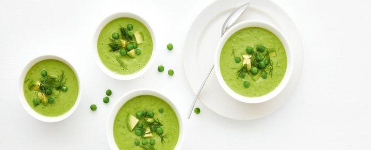 Hrášková polévka s koprem a petrželkou