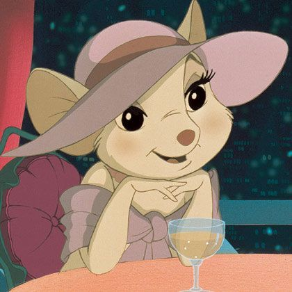 Miss Bianca was an elegant mouse (voiced by Eva Gabor) in the 1977 movie The Rescuer.
