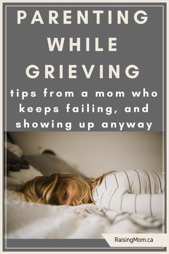 Parenting While Grieving… tips from a mom who keeps failing, and showing up anyway http://raisingmom.ca/parenting-grieving-tips-mom-keeps-failing-showing-anyway/ Grief | motherhood | grieving | kids and grief | grief self-care | parenting | mom life | death | dealing with death | when someone dies | death of a grandparent | death of a parent | ~ After a 2.5 year cancer journey, my mom passed away last fall. To say that it's been a rough few months would be an understatement! I have put a lot…