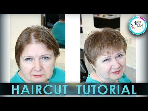 haircut for adult women (Стрижка для женщин в возрасте) tutorial 24 - YouTube
