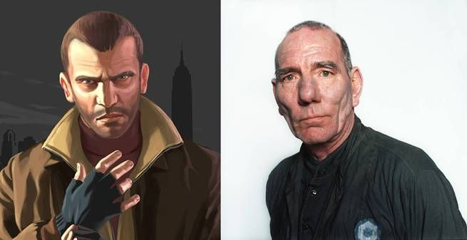 Niko Bellic From GTA 4 And Pete Postlethwaite---This is not even close.