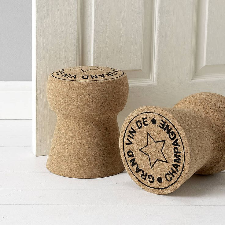 giant champagne cork door stop by impulse purchase | notonthehighstreet.com