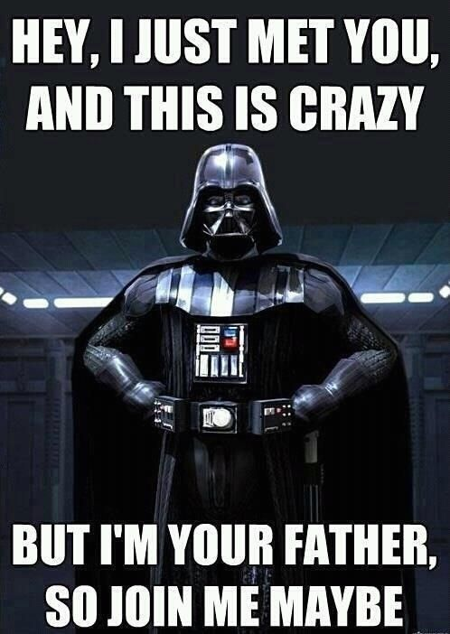 """""""Call me Maybe"""" Star Wars Meme...ok, this might be funny to me lol"""