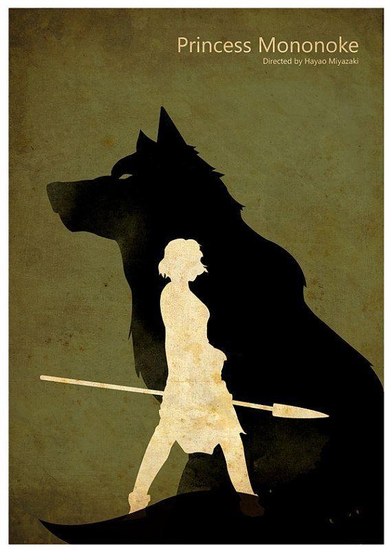 Princess Mononoke | Minimalist Poster, Fan art