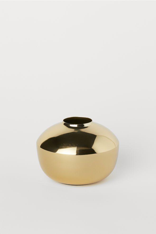 Metal Vase in 2018 Gold Home Decor Pinterest Metal vase, Gold