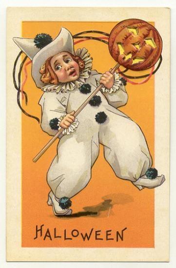 Clown With JOL Stecher Series 408 E Halloween Postcard 1910-15 | eBay