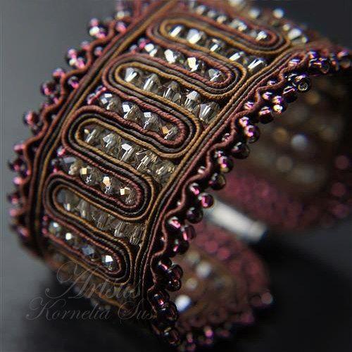 soutache cuff bracelet