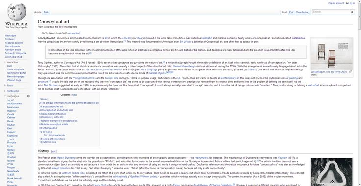 Conceptual art - Wikipedia, the free encyclopedia