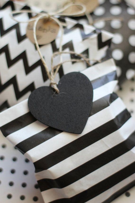 5 pcs Heart Chalkboard Tag  Heart Shaped Chalkboard by pingosdoceu
