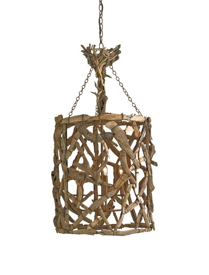 17 best images about bois flotte driftwood on pinterest for Chandelier bois flotte