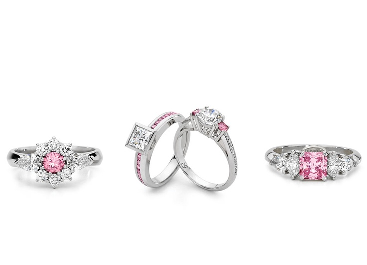 Rare, natural Australian Argyle pink diamond rings, handcrafted by Giulians on-site jewellers. Visit Giulians store in Sydney at the Four Seasons Hotel