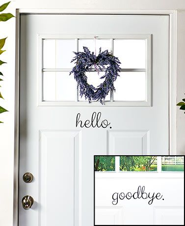 This Welcoming Door Decal is a unique way to welcome guests into your home. Just peel and stick to your front door or window. It's easy to wipe clean with a clo