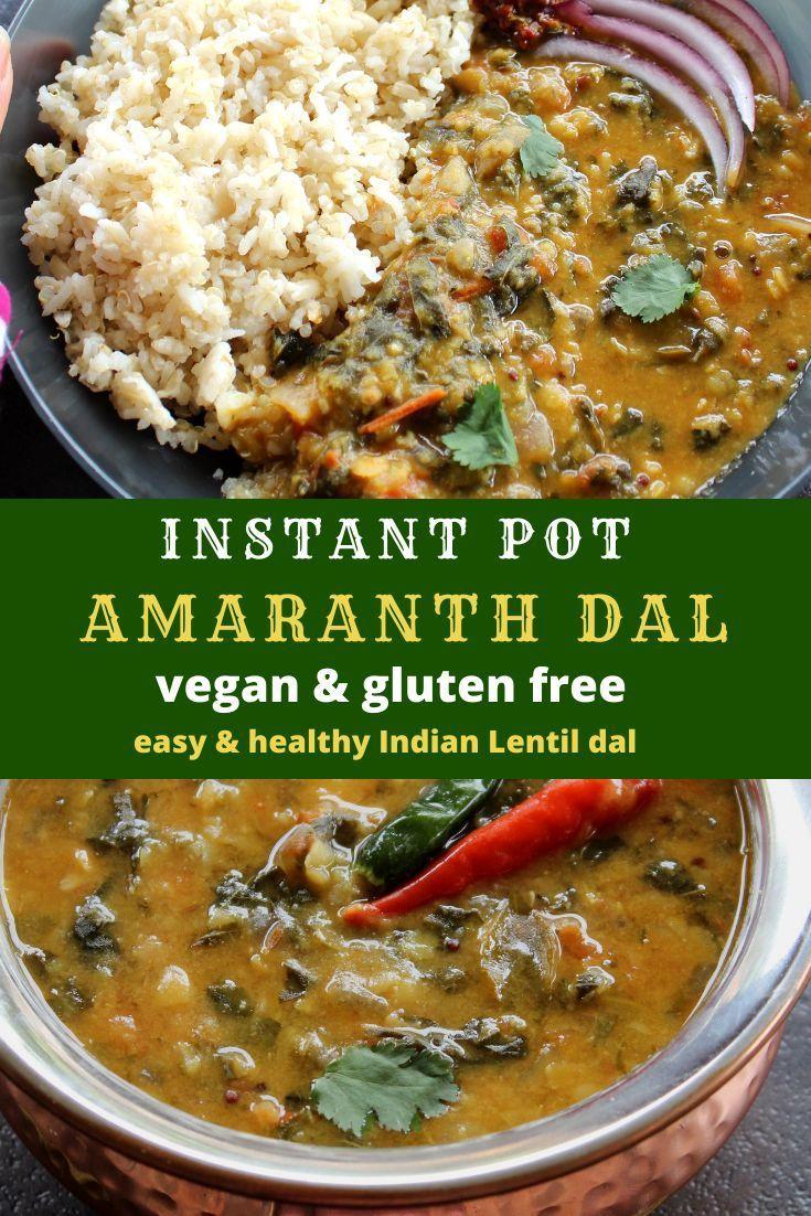 Instant Pot Amaranth Dal Thotakura Pappu Recipe Tasty
