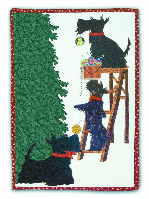 """A Scottish Christmas"" quilt pattern at Mad Dog Designs"