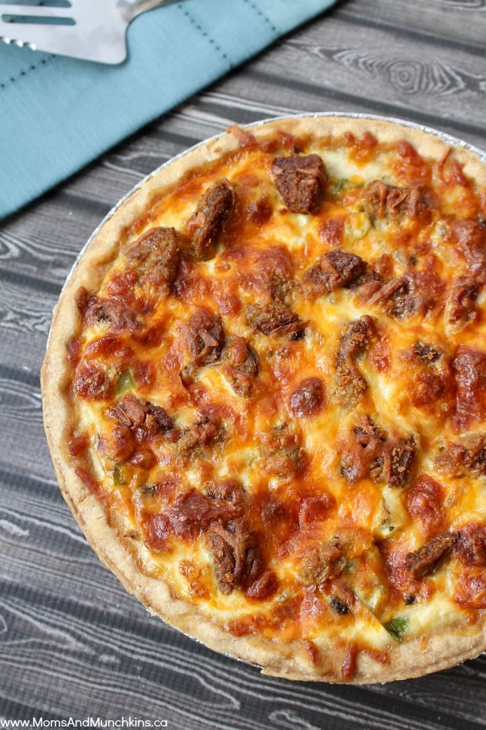 Sausage and Mushroom Quiche - a delicious recipe for breakfast, brunch or dinner. Don't let the title fool you, it's easy to make too!