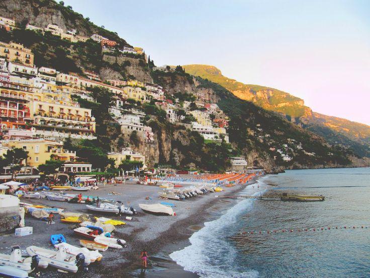 sunset in positano, italy #amalficoast