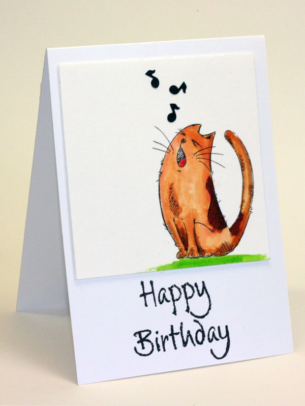 Best 25 Cat birthday cards ideas – Birthday Card from Cat