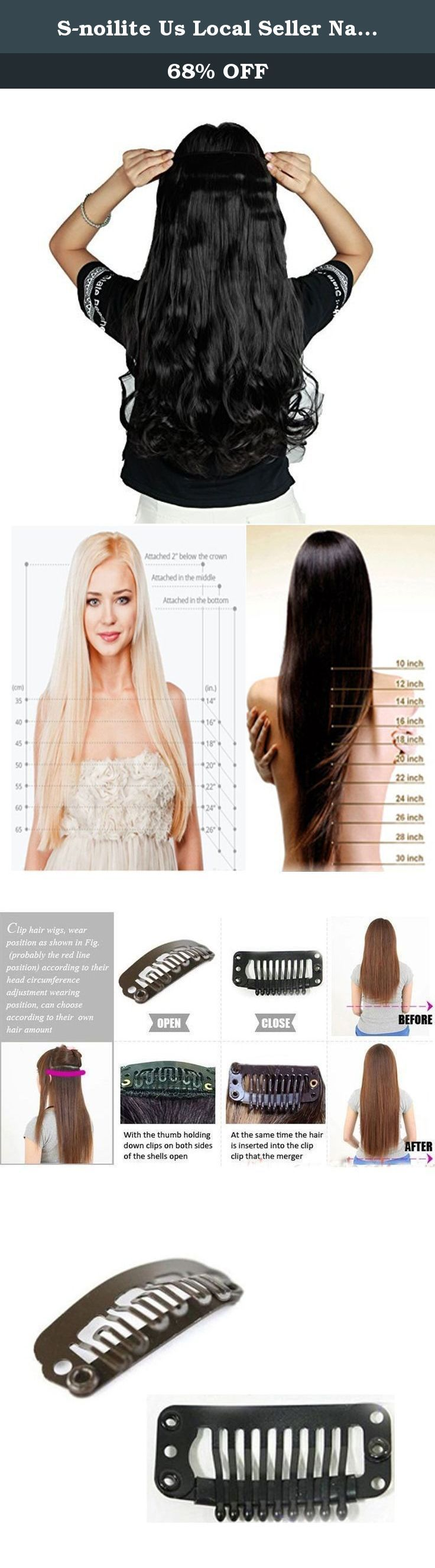 S-noilite Us Local Seller Natural Black 24 Inches Curly One Piece Clip in Hair Extensions (5 Clips) Clip Ins Hairpiece for Women Lady Girl. This is a one piece clip in hair extensions made from premium synthetic fibres. There are five hair clips along the top for easy, secure and discreet attachment to your hair. You can fit them yourself in the mirror, and have them in and a new style ready to go in minutes. This item is ideal for adding a little volume or length to your current style…
