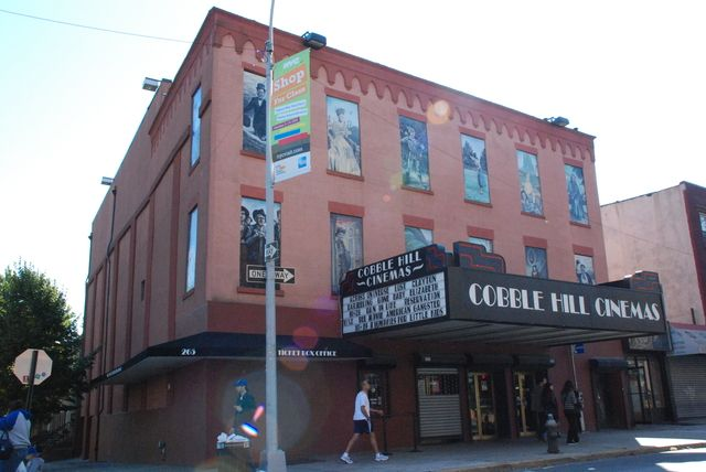 """When I visit friends... From cinematreasures.org: """"This old Rio Theater stands on Court Street and Butler Street. A double-feature neighborhood theater into the '60s ... it showed kung fu and action fare. When the neighborhood became hot again, the theater reopened as the Cobble Hill Cinema. It showed first-run fare. The theater was an instant success and soon the owner twined, triplexed and finally build two new theaters on the roof making it a fiveplex."""