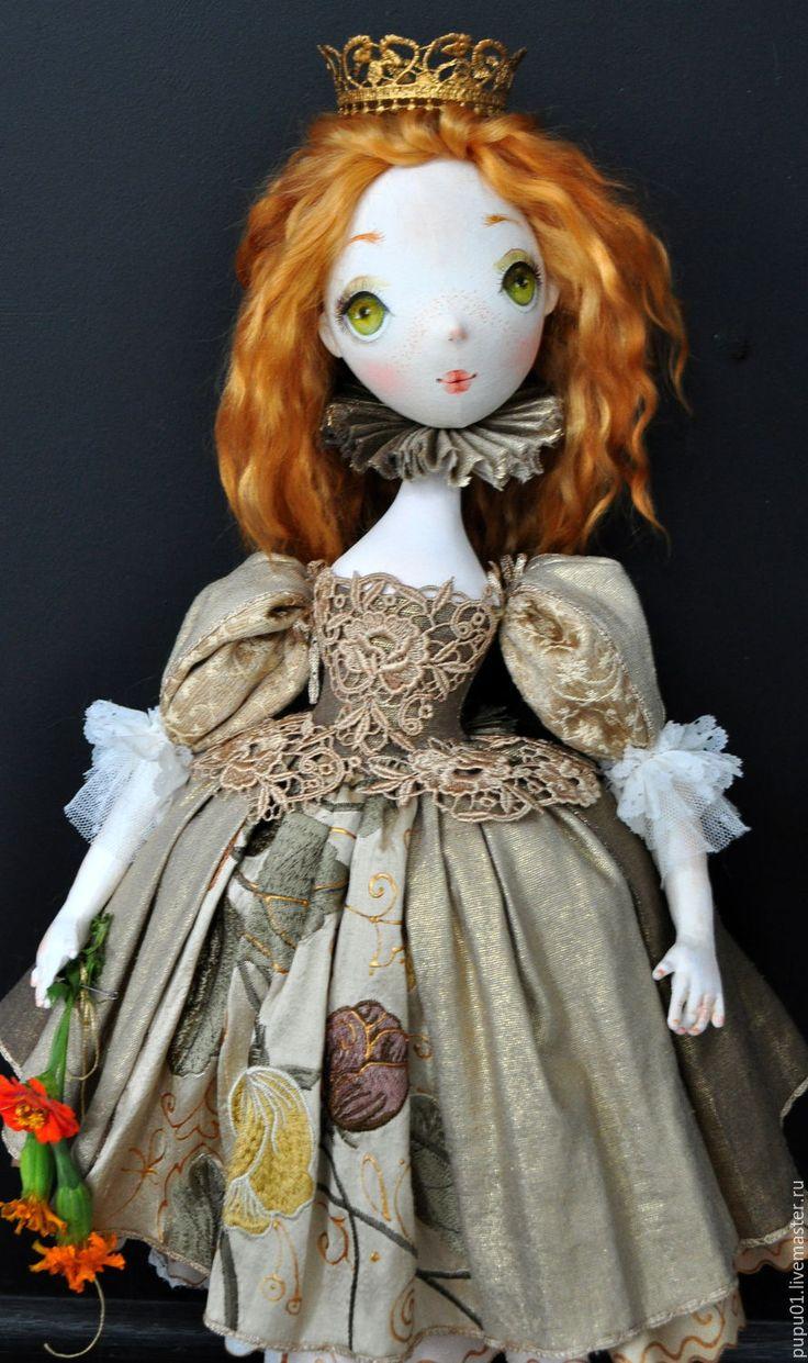 Купить Lioness - золотой, авторская ручная работа, авторская кукла, кукла коллекционная, знаки зодиака