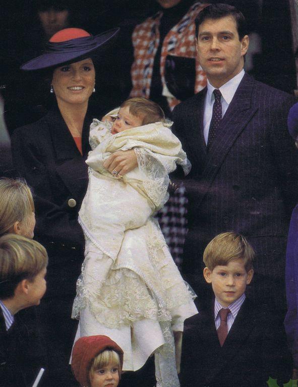 i Duchi di York al battesimo della Principessa Beatrice